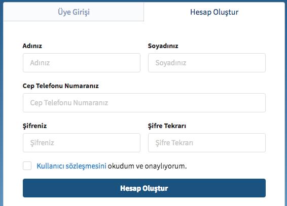 litecoin Satın Alma Kayıt Ekranı