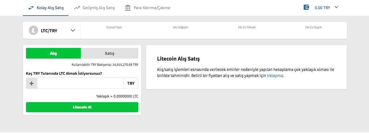 litecoin ltc satın alınır nasıl